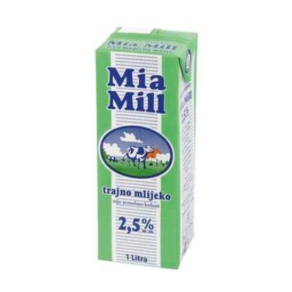 Mlijeko Mia Mill 2,5% m.m. 1 L