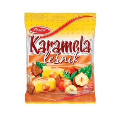 Bomboni karamela lješnjak Pionir 100 g