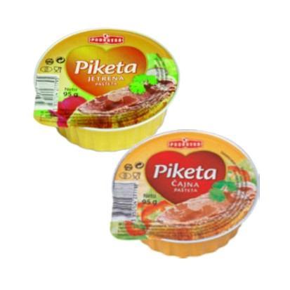 Pašteta Piketa jetrena i čajna 95 g