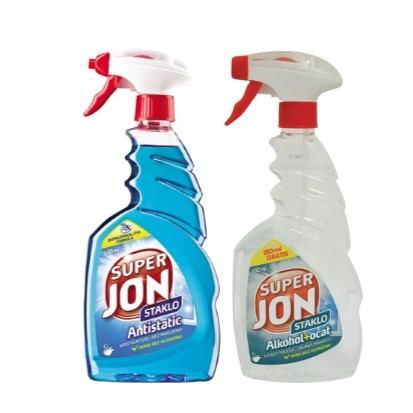 Deterdžent za staklo Super Jon alkohol+ocat, antistatic 650 ml