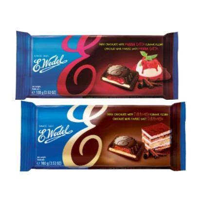 Tamna čokolada Wedel s tiramisu i panna cotta kremom 100 g