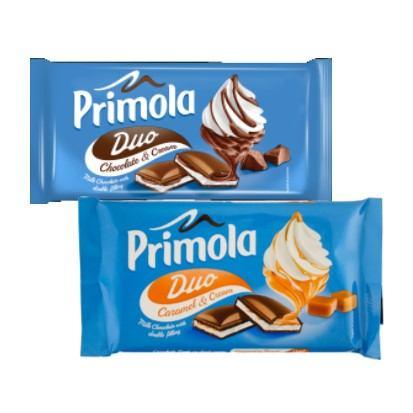 Čokolade Primola šlag, karamel 89 g