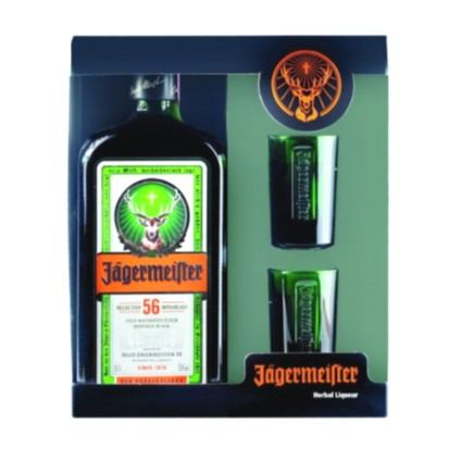 Liker Jagermeister 0,7 L + 2 čaše
