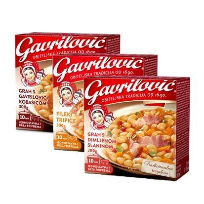 Fileki, grah s dimljenom slaninom, grah s Gavrilović kobasicom 300 g
