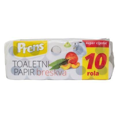 Toaletni papir Prens breskva 10 rola 3slojni