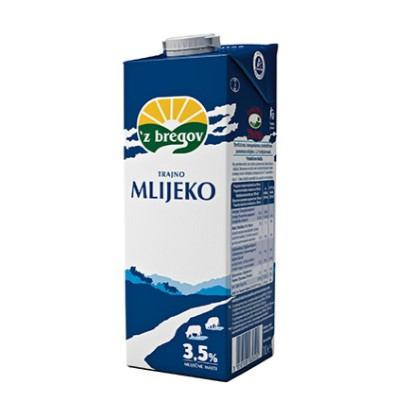 Trajno mlijeko Vindija UHT 3,5% m.m. 1 L