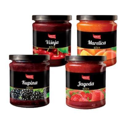Džem premium marelica, kupina, višnja, jagoda 350 g Ultra