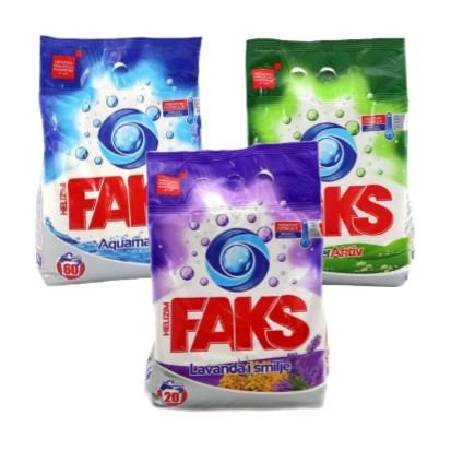 Deterdžent za rublje Faks Aquamarine, Superaktiv, Lavanda & smilje 1,3 kg