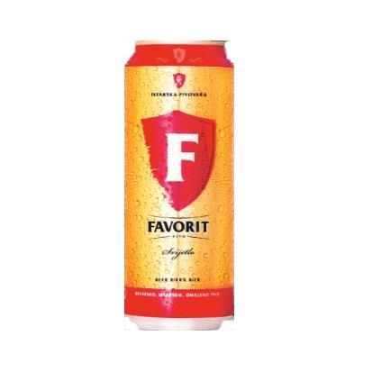 Pivo Favorit limenka 0,5 L
