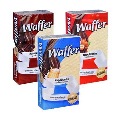 Napolitanke Waffer 400 g razne vrste