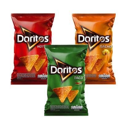 Čips Doritos Nacho, Taco, Hot corn 100 g