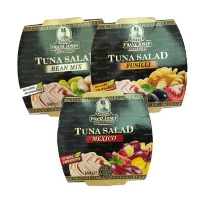 Tuna salate Franz Josef Bean mix, Fusilli, Mexico 160 g