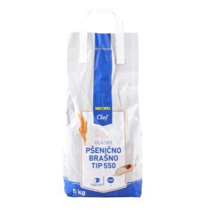 Brašno glatko pšenično TIP 550 Metro Chef 5 kg