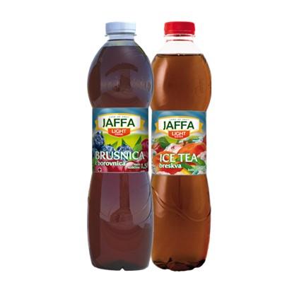 Ledeni čaj Jaffa Light brusnica borovnca, breskva 1,5 L