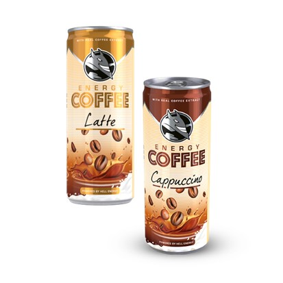 Hell Energy coffee latte, cappuccino 250 ml