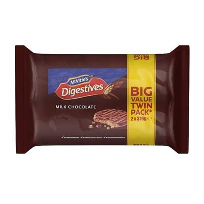 Keksi Digestive milk chocolate 2x316 g