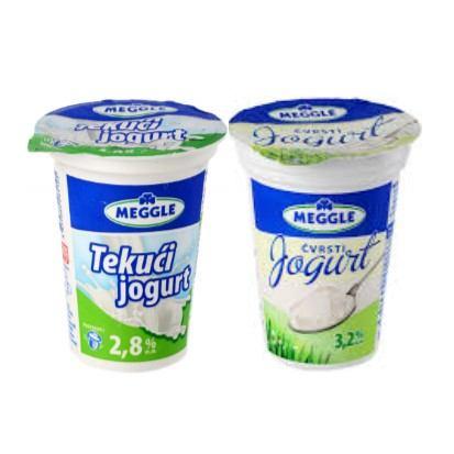 Čvrsti jogurt 3,2% m.m. i tekući jogurt 2,8% m.m Meggle 180 g