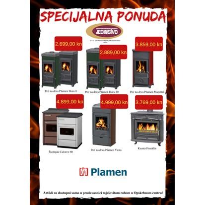 Specijalna ponuda Plamen peći u prodavaonici mješovite robe u Opskrbnom centru