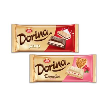 Čokolada Dorina Jadro, Domaćica malina 100 g