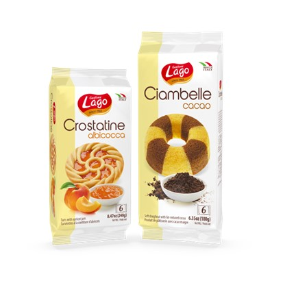 Crostatine Lago kakao, marelica 6/1 240 g
