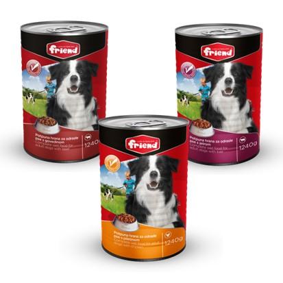Hrana za pse Friend govedina, piletina, jetra 1240 g