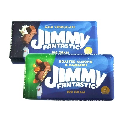 Čokolade Jimmy milk i roasted almond & hazelnut 100 g