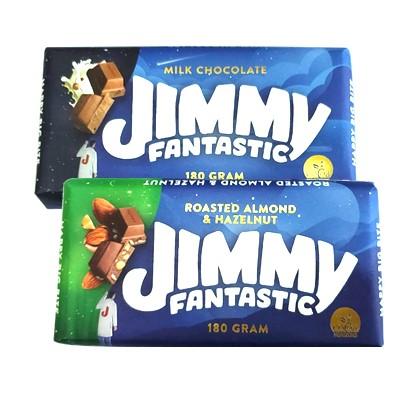 Čokolade Jimmy milk i roasted almond & hazelnuts 180 g