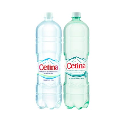 Negazirana i gazirana izvorska voda Cetina 1,5 L