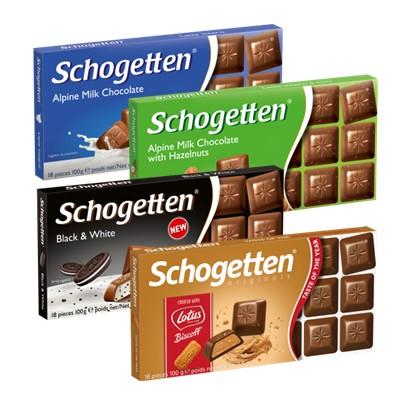Čokolade Schogetten 100 g razne vrste