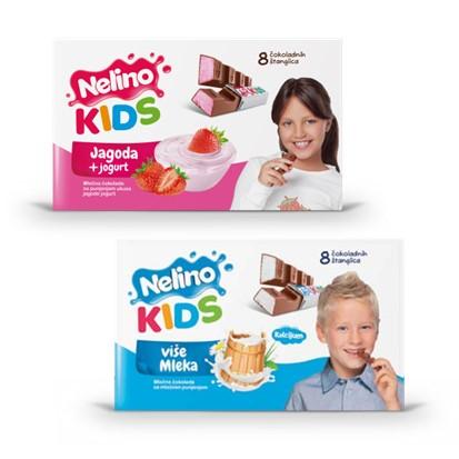 Čokolada Nelino kids mliječna, jagoda 100 g