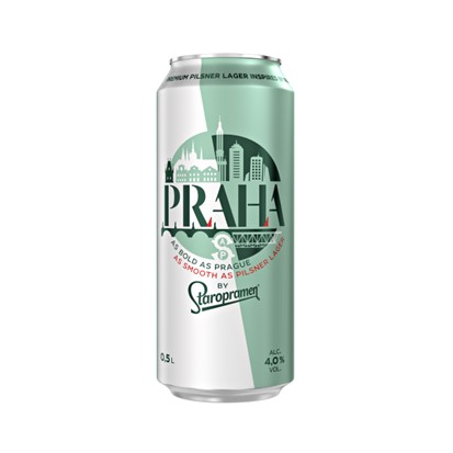 Pivo Staropramen Praha 0,5 L limenka