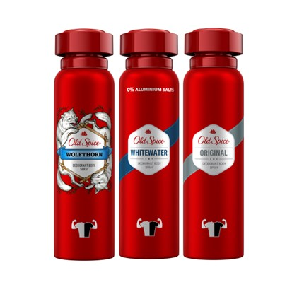 Deo spray Old spice Whitewater, Captain, Original 150 ml