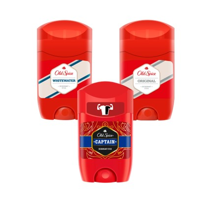 Deo stick Old spice Whitewater, Captain, Original 50 ml