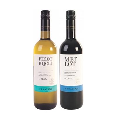 Vino Pinot bijeli i Merlot Classic 0,75 L