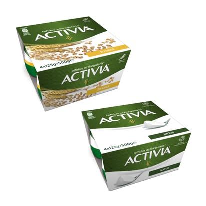 Jogurt Activia žitarice i natur cremy 4x125 g