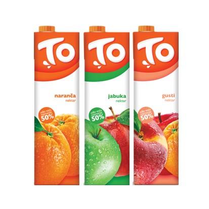 Nektar TO naranča, jabuka i gusti 1 L