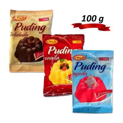 Pudinzi Gold vanilija, čokolada i jagoda 100 g